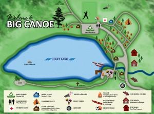 Camp Big Canoe Map