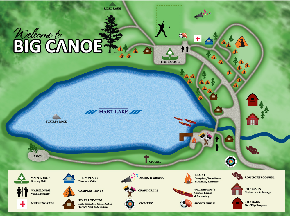 Camp Big Canoe Map